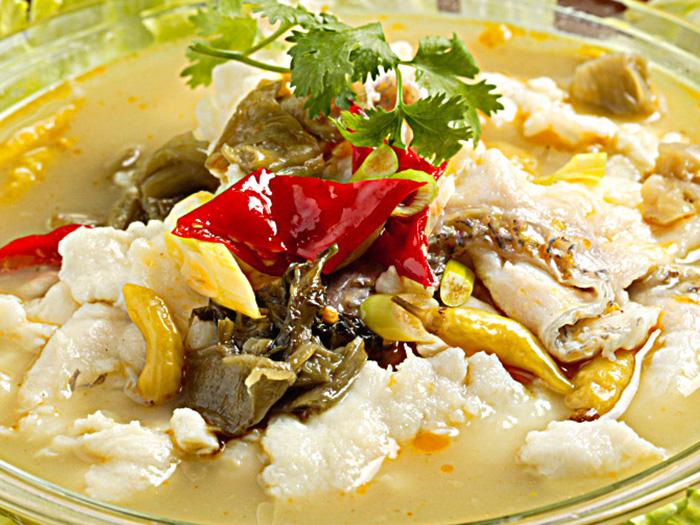 酸菜魚(高菜の漬物と魚煮)